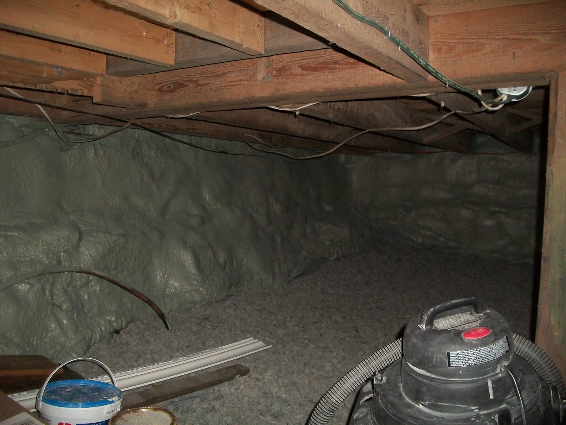 Closed-Cell Spray Foam in Rock Wall Crawlspace